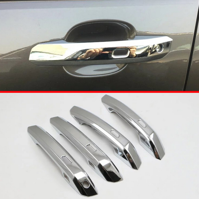 ABS Chrome Door Handle Cover Trim With Smart Hole For Audi A4 2017
