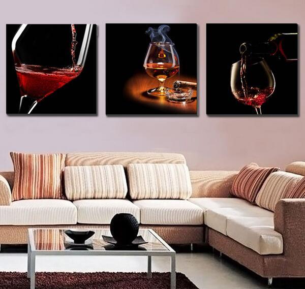 Rot Leinwand Gemälde Werbeaktion-Shop für Werbeaktion Rot ...