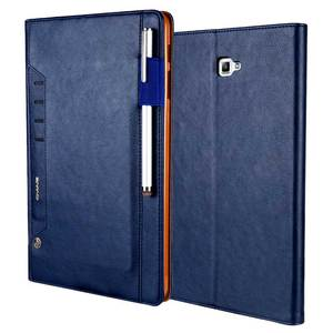 "Image 5 - למעלה כיתה רטרו עור מקרה עבור Samsung Galaxy Tab 10.1 ""2016 T580 עסקים Stand כרטיס חכם כיסוי עבור סמסונג SM T585 T580"