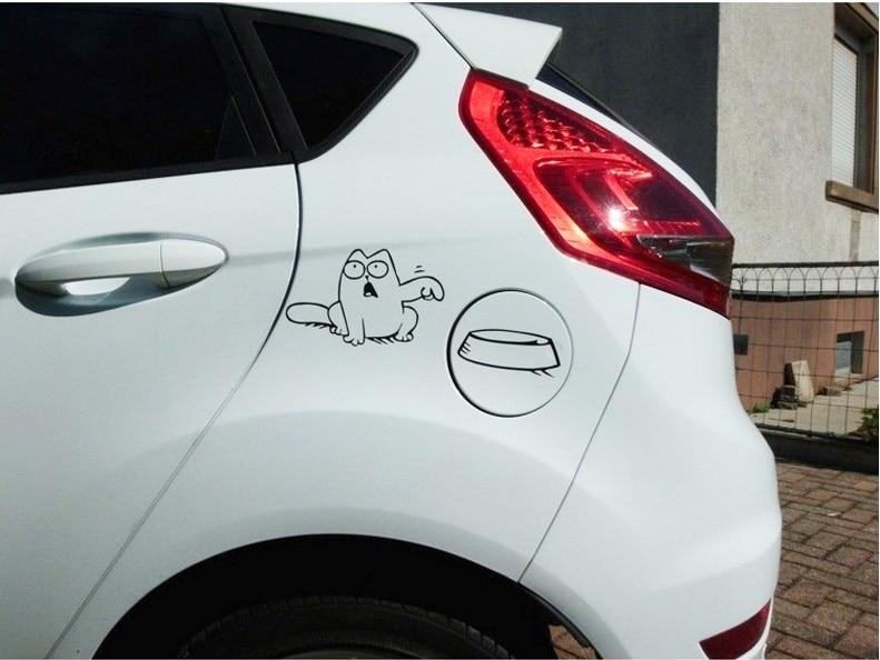Simon Cat Funny Car Stickers Stylish Car Styling For Toyota Camry Corolla RAV4 Yaris Highlander/Land Cruiser Accessories