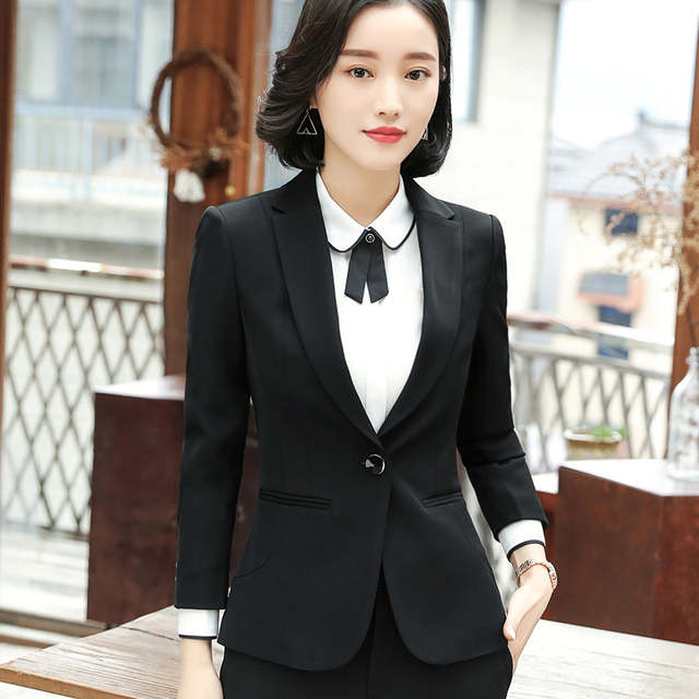 placeholder Business Blazer Women Fashion Clothes New Spring Temperament Formal  Long Sleeve Slim Jacket Office Lady Interview bb3c8d021dee