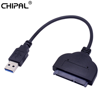 CHIPAL 5 Gbps USB 3.0 a SATA 3.0 Cavo Adattatore USB3.0 a Serial ATA III 22Pin Converter per 2.5 Pollici hard Disk Drive HDD SSD