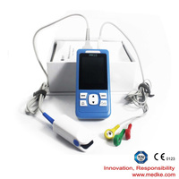 2.4TFT handheld pulse Oximeter SPO2 PR Medical Heart Rate monitor 3 Channels ECG EKG Holter Monitor System
