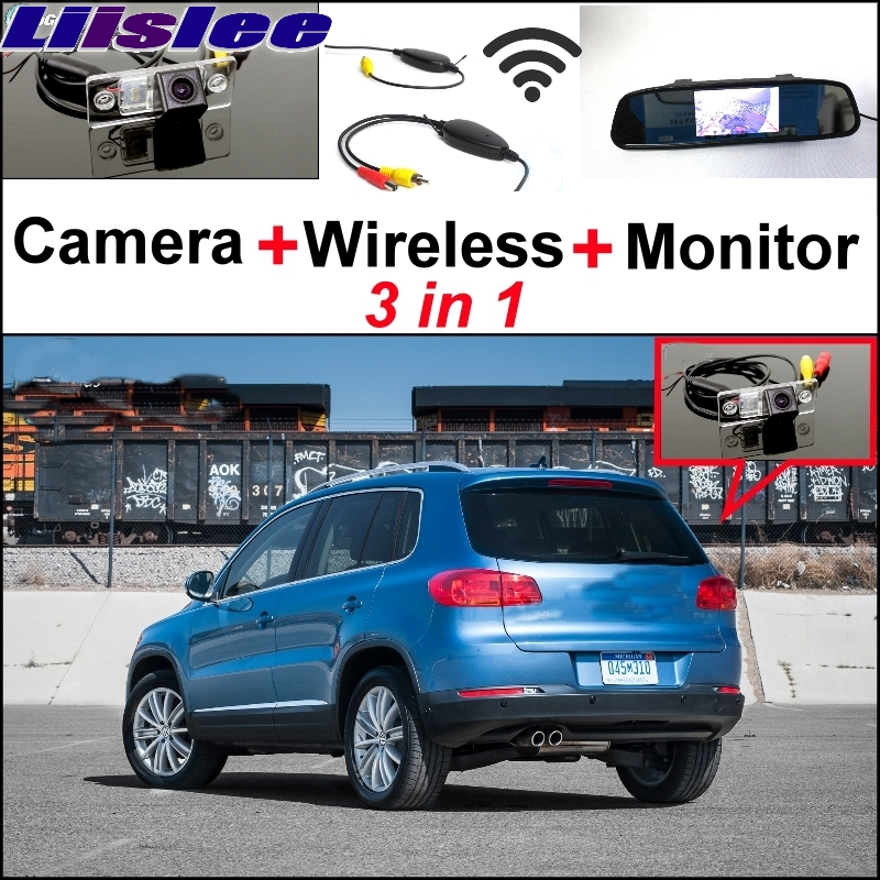 Liislee 3 in1 Special Rear View Wifi Camera + Wireless Receiver + Mirror Monitor Back Up Parking System For Volkswagen VW Tiguan liislee 3 in1 rear view special camera mirror monitor easy back up parking system for nissan nv200 evalia wireless receiver