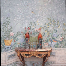 Ручная роспись шелковые обои Европейский стиль живопись цветок с птицей ручная роспись обои много фотографий на выбор
