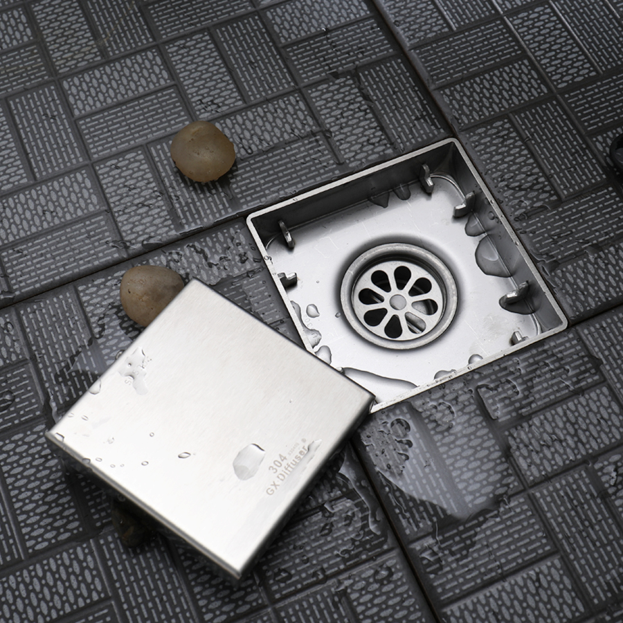 Gx diffuser floor drain tile insert square bathroom waste grates gx diffuser floor drain tile insert square bathroom waste grates invisible shower drains cover sus304 stainless steel in drains from home improvement on dailygadgetfo Image collections