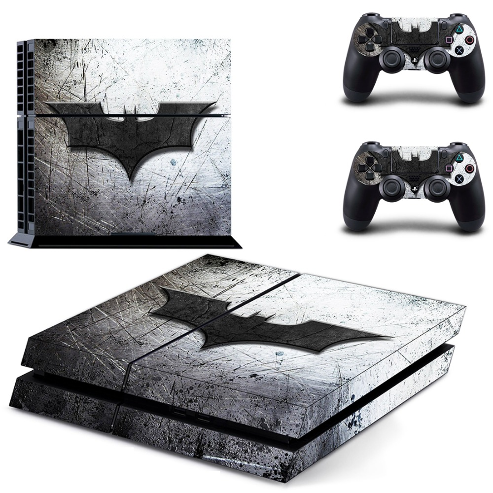 PS4 Batman Sticker Vinyl Decal Protective Skin Cover for Sony PS4 Console And 2 Dualshock Controllers купить в Москве 2019