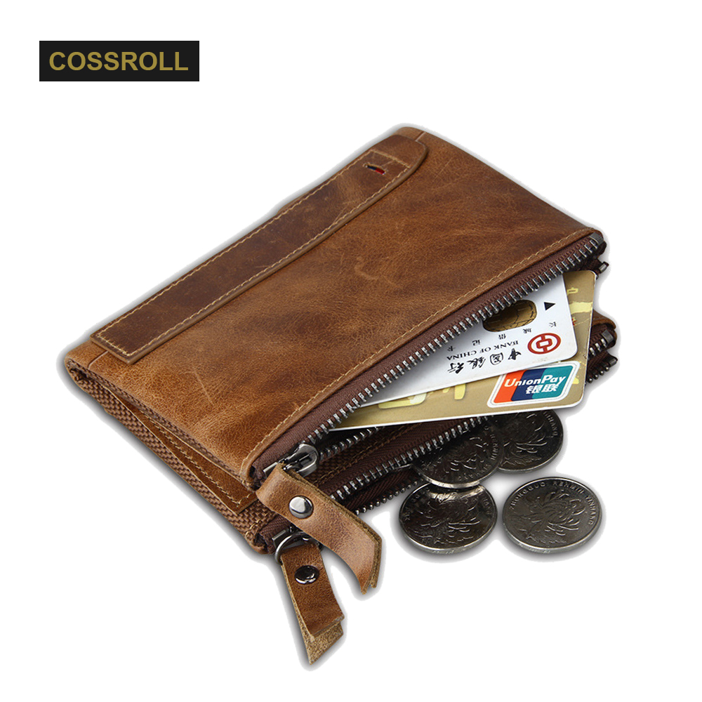 100% Genuine Leather Men Wallet Small Zipper Men Purse High Quality Male Short Coin Purse Brand Designer Carteira with Zip Bag jinbaolai wallet men genuine leather zipper hasp coin purse short male leather men wallets money bag quality guarantee carteira