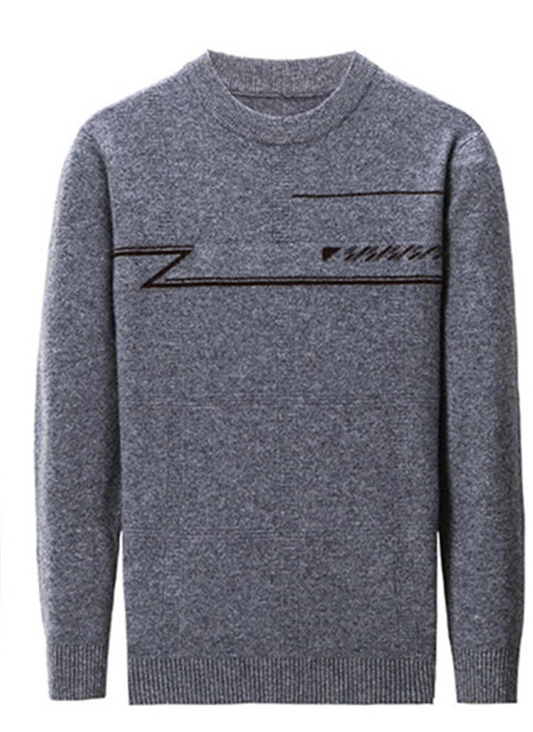 100%cashmere O-neck Knit Men Fashion Thick H-straight Pullover Sweater Solid Color S-3XL Retail Wholesale