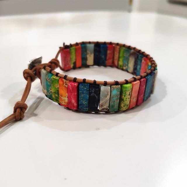Unisex Stone Bracelet - 29 Beads  2