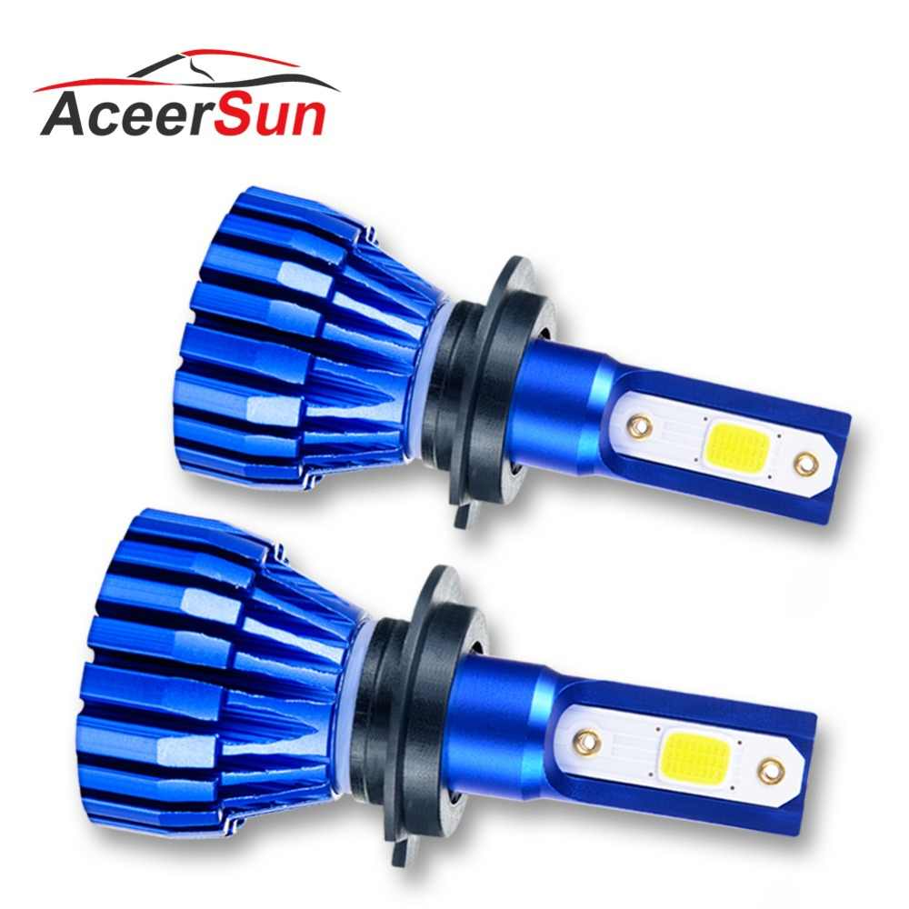 Aceersun LED Fog light car Motorcycle H7 H1 9005 9006 H11 H3 Fanless 12V 24V COB Chip 4300K IP67 Spotlight MINI car accessories