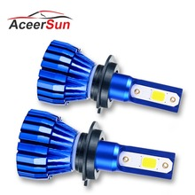 Aceersun LED Fog light car Motorcycle H7 H1 9005 9006 H11 H3 Fanless 12V 24V COB Chip 4300K IP67 Spotlight MINI car accessories