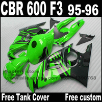 Alta calidad set de Carenados para HONDA CBR 600 F3 1995 1996 verde negro carenado kits de carrocería cbr600 95 96 CN81