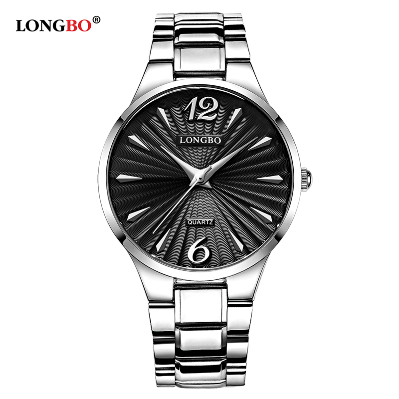 LONGBO Luxury Quartz Watches Casual Fashion Steel Strap 2017 Watches Men Women Couple Watch Sports Analog Wristwatch Gifts 80278