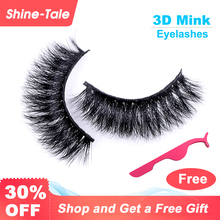 лучшая цена Shine-tale Natural Eyelashes 3D Mink Lashes Thick Long False Eyelash Extension for Lady Teenager Girls Natural Eyelashes D105