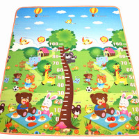 New Arrive 10 Mm Thickness Double Site Baby Play Mat Cute Measuring Height Mat Picnic Carpet