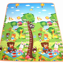 New Arrive 10 mm Thickness Double sides Children Play Mat Cute Measuring Height Mat Picnic Carpet