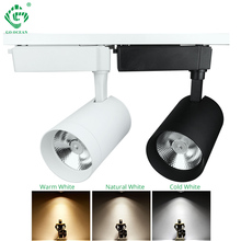 LED Track Light 20W 30W COB Rail Lamp Spot For Clothing Shop Shoe Store Windows Showrooms Exhibition Ceiling Lighting Spotlight led track light track lighting cob 15w 20w 30w 36w clothing shop windows showroom exhibition spotlight ceiling rail spot lamp