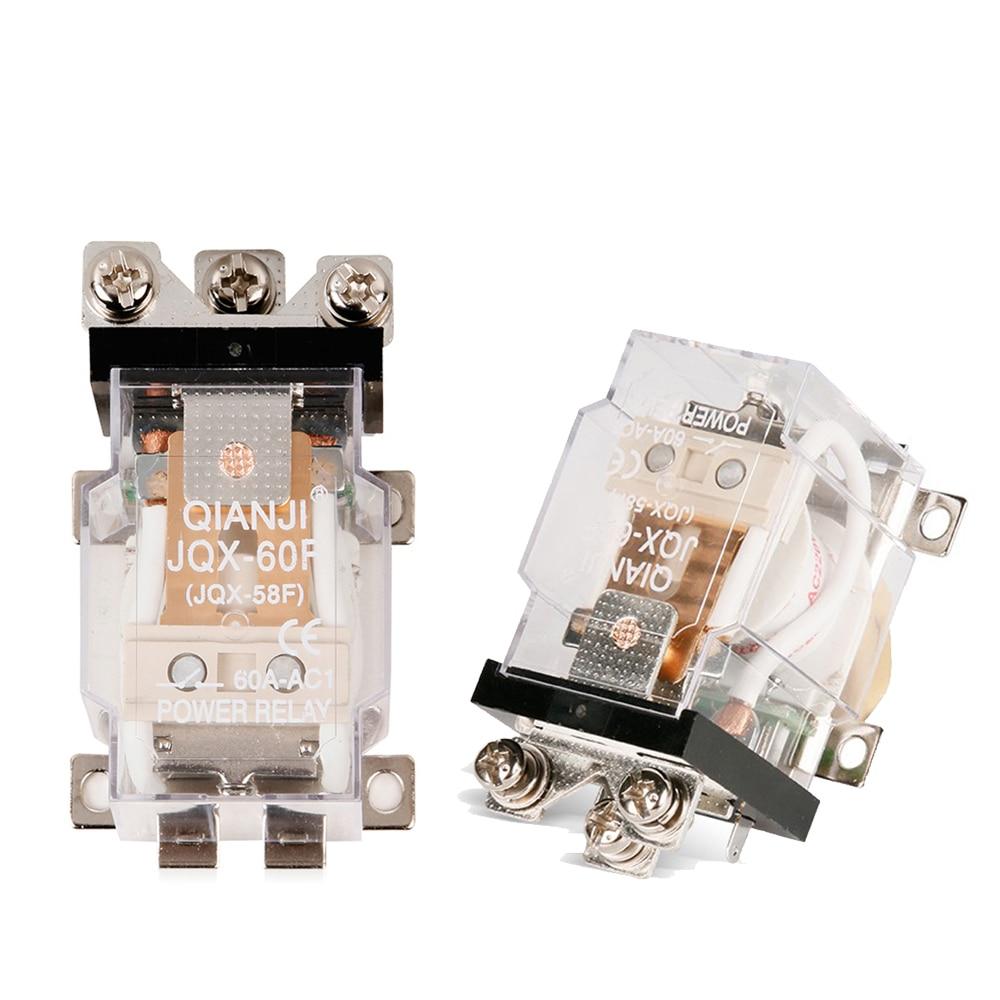 ELECALL 2 pcs JQX-60F 1Z 60A AC220V Power Relay Coil Electromagnetic Relay стоимость