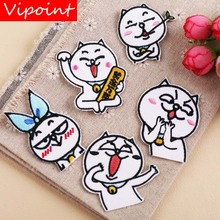 VIPOINT embroidery cats cartoon patches animal badges applique for clothing YX-208