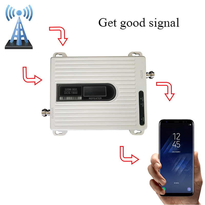 2g 4G Signal Booster GSM DCS Signal Repeater 900 Mhz GSM Signal Booster 1800 Mhz Amplifier ,  Antenna Is Not Included