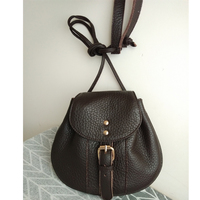 Handmade women cross body bags 100% genuine leather saddle bag vintage summer small phone bag cow leather