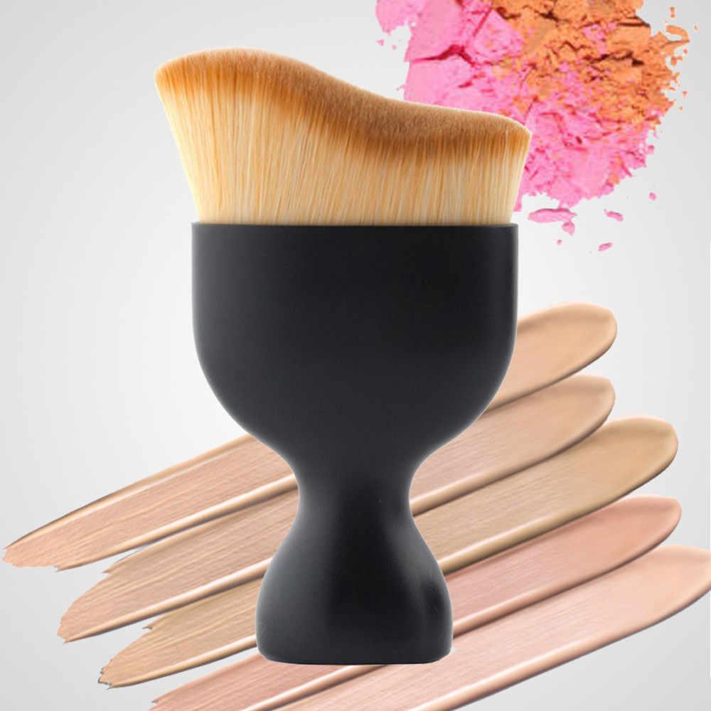 Portatile di Trucco Cosmetico Setole Sintetiche Cosmetici di Bellezza Spazzola Viso Blush, fard Artista Pennello In Polvere Pennello Prodotti di base Uso