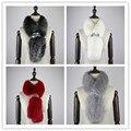 2016 nova real lenços de pele de raposa lenço da pele cachecóis selvagem nova moda feminino desfruta de inverno