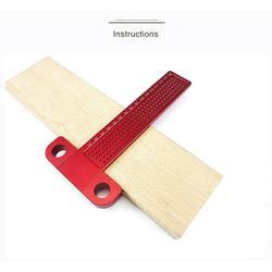 Adeeing precyzja obróbki drewna T 160mm Carpenter znakowania zasady narzędzie pomiarowe do obróbki drewna prędkość kwadratowy kąt kątomierz Szczelinomierze Narzędzia -