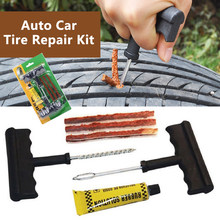Tire Repair Tools Kit 6Pcs Car Accessories Auto Bike Auto Tubeless Tire Tyre Repair Kit Puncture Plug Repair Kit Hand Tools(China)