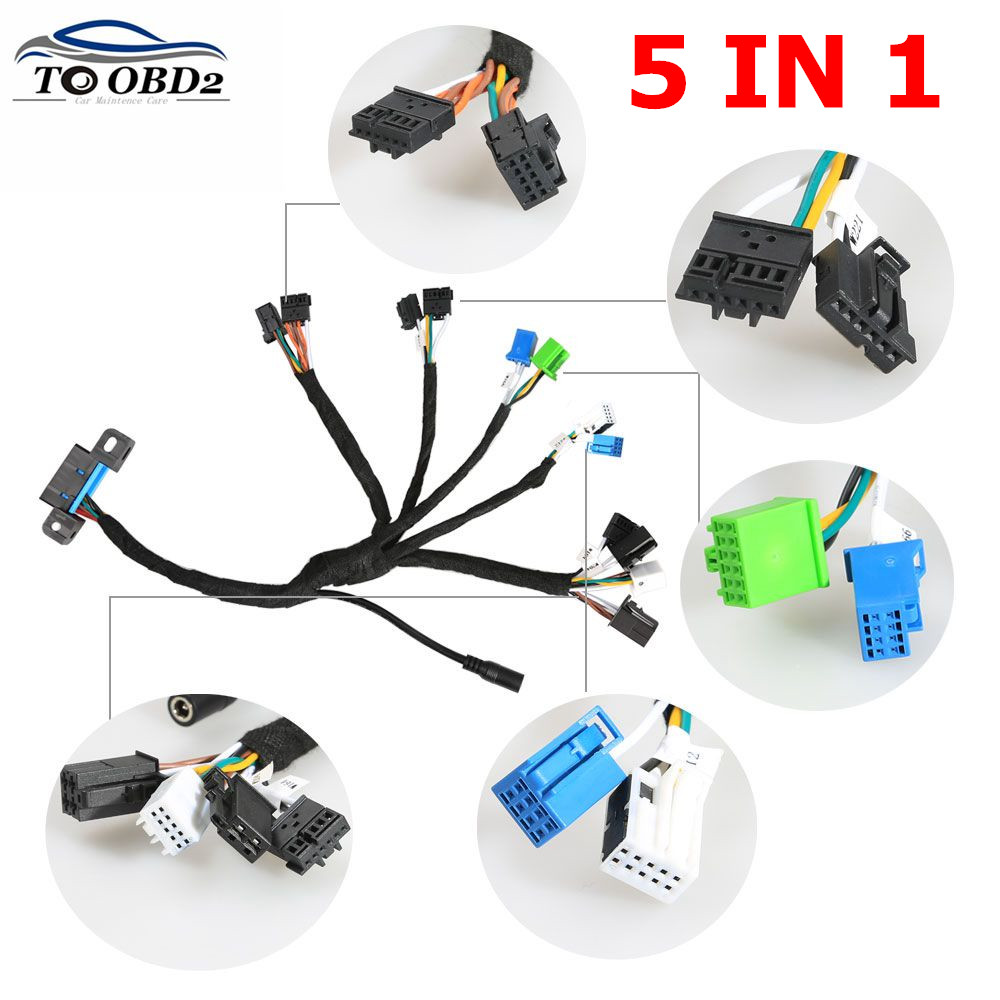 EIS ELV Test Cables Five In One Supports For Mercedes Works Together With VVDI MB BGA TOOL And CGDI Prog MB (5-in-1)best Quality