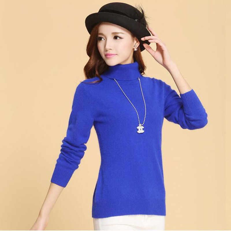 סתיו חורף קשמיר סרוג סוודר נשי סוודר בתוספת גודל גולף סוודר נשים בסיסי השפל סוודר חם חולצות H533