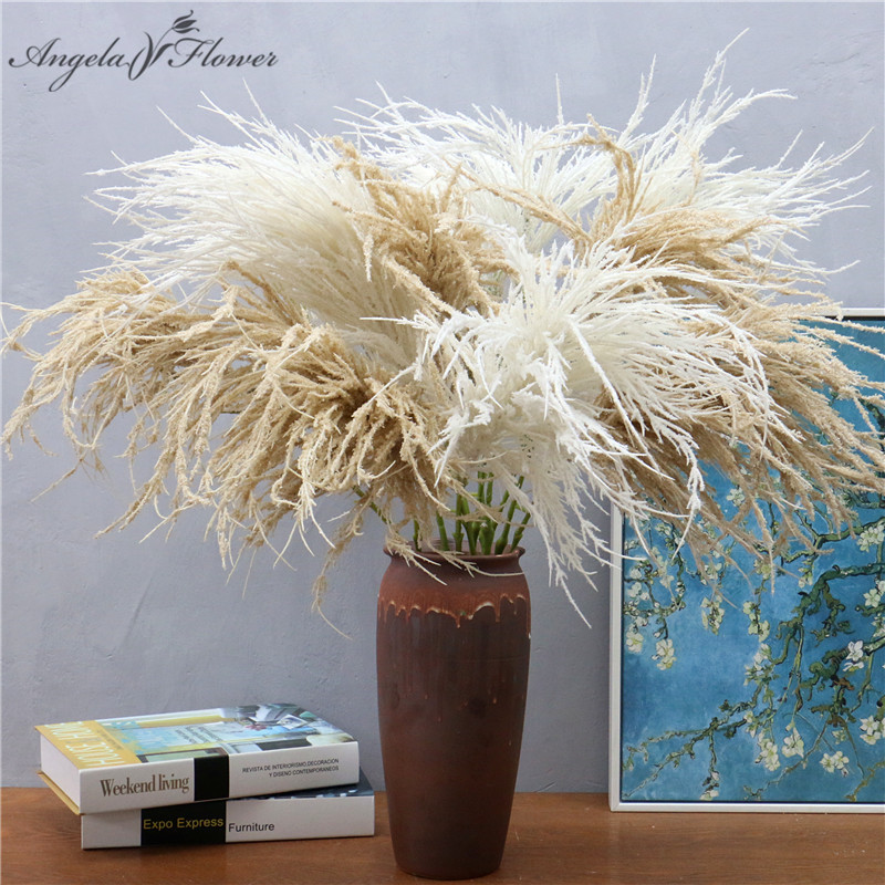 100cm Natural Artificial Green Plant Fake Grass Potted Reed Office Room Wedding Decor Road Guide Dried Flower Pansy Pomegranate