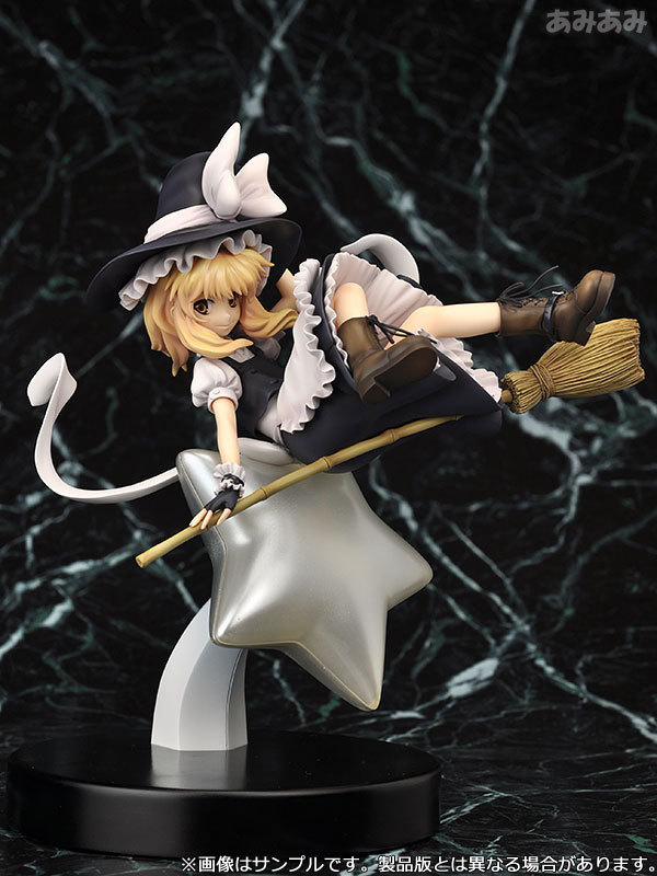 TouHou Project Action Figure Kirisame Marisa PVC 220mm Anime Cartoon TouHou Project Collectible Model Toy For Christmas Gift japan touhou project komeiji koishi 1 8 scale painted pvc children cartoon gifts doll action figure collectible model toy t5767