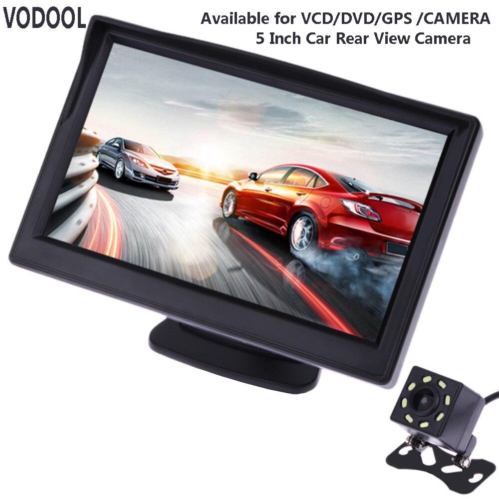 VODOOL 5 Zoll TFT LCD Auto Rückansicht Display Monitor Wasserdichte Nachtsicht Rückfahr Backup Rearview Kamera Qualität Auto Monitore