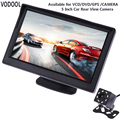 VODOOL TFT LCD coche vista trasera Monitor de pantalla impermeable noche visión de copia de marcha atrás Cámara retrovisora coche de calidad monitores