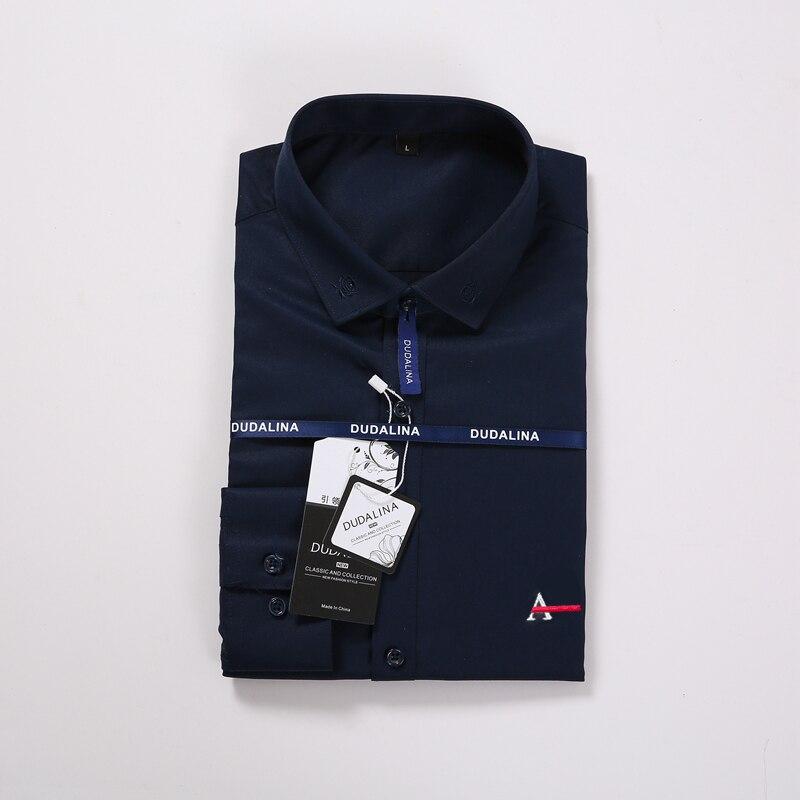 Image 4 - Aramis Sergio K Dudalina Men Shirt Camisa Social Masculina 2019 Men Shirt Embroidery Logo Long Sleeve Business Casual Shirts Men-in Casual Shirts from Men's Clothing