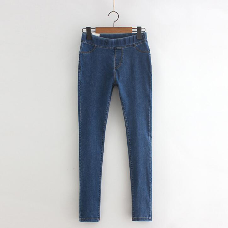 Image 2 - Rihschpiece 2018 Autumn Jeans Leggings Women Punk Black Jeggings High Waist Pants Slim Push Up Legging RZF1352-in Leggings from Women's Clothing