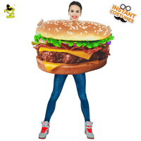 Woman Funny Hamburger Costume Carnival Party Role Play Cartoon Outfits for Women Halloween Cosplay Yummy Fast Food Costumes