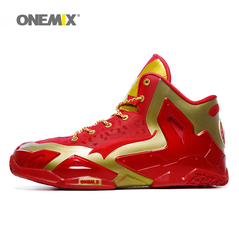 ONEMIX men basketball shoes top quality athletic sports sneakers anti-slip basketball boots free shipping plus size US7-US12