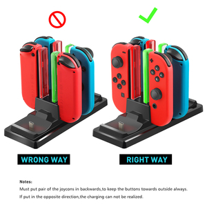 Image 5 - 6 in 1 Charging Dock Station Controller Charging Holder Stand LED Indicator for Nintend Switch Joy con Pro Controller Charger