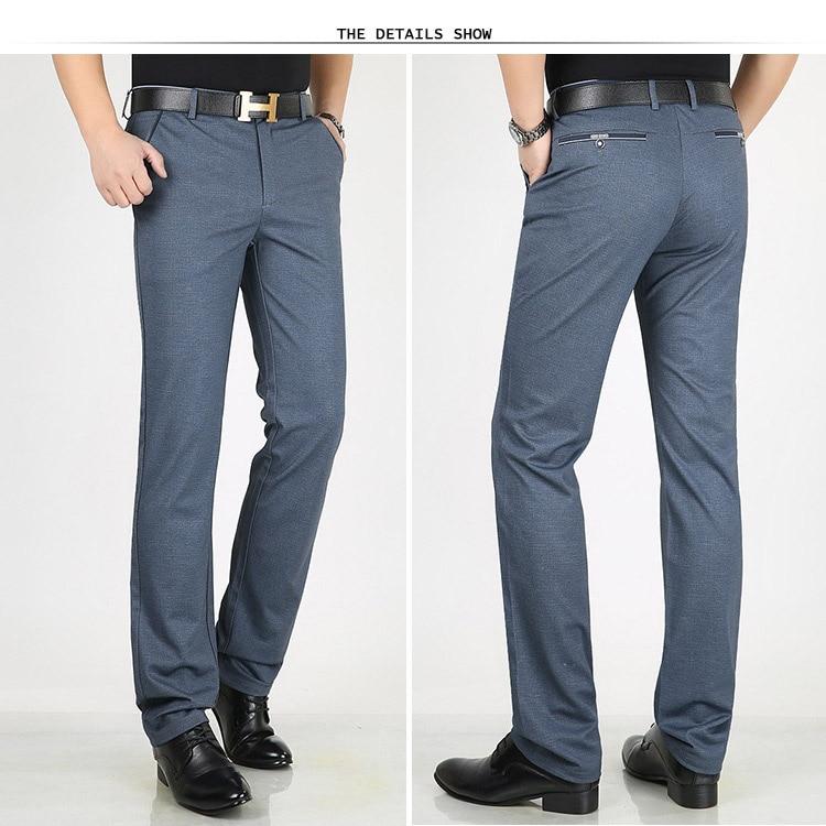 HTB1WPCmXZrrK1RjSspaq6AREXXaz Classic Pants Men Suit Dress Casual Pants Men Straight Fit Business Work Office Formal Pants Big Size Autumn Men's Trousers Male