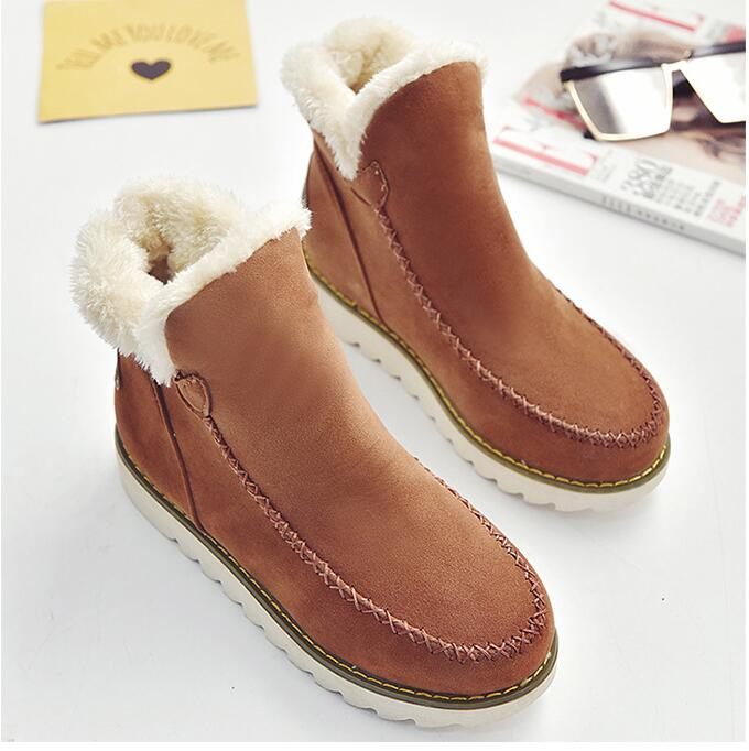 Winter Boots Ankle Women Shoes Lady Snow Warm Plush 2018 Brand Slip on Sneaker Platform 35-43