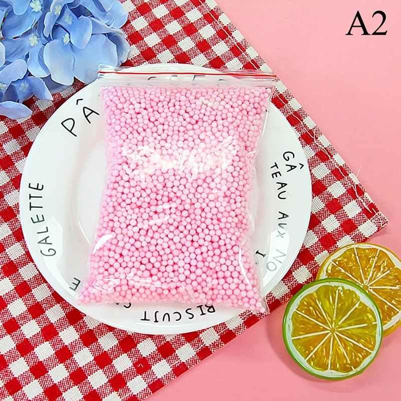 2-6mm Polystyrene Styrofoam Plastic Foam Mini Beads Ball DIY Assorted Colors Decorate 1pack