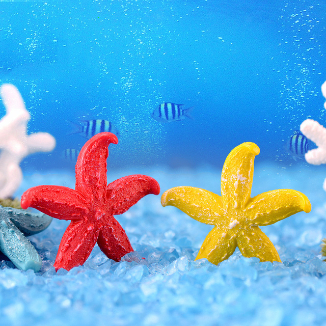 Fish Tank Ornaments Landscape Home Decoration Aquariums 1PC Starfish Coral Artificial Microlandschaft Resion DIY Popular 5