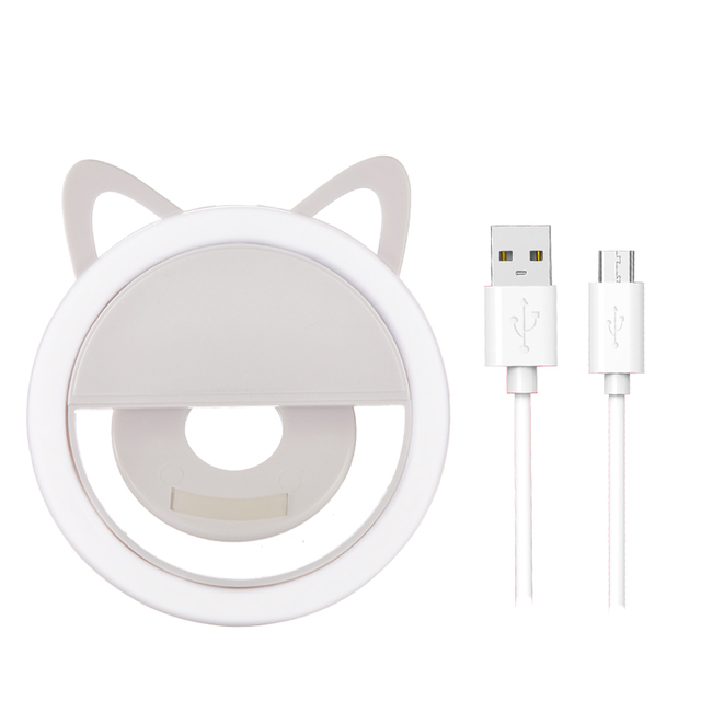 USB charge Selfie Ring Light Portable Flash Led Camera Phone Enhancing Photography for iPhone smartphones selfie light