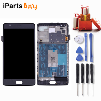 iPartsBuy LCD Screen and Digitizer Full Assembly with Frame for OnePlus 3/A3003