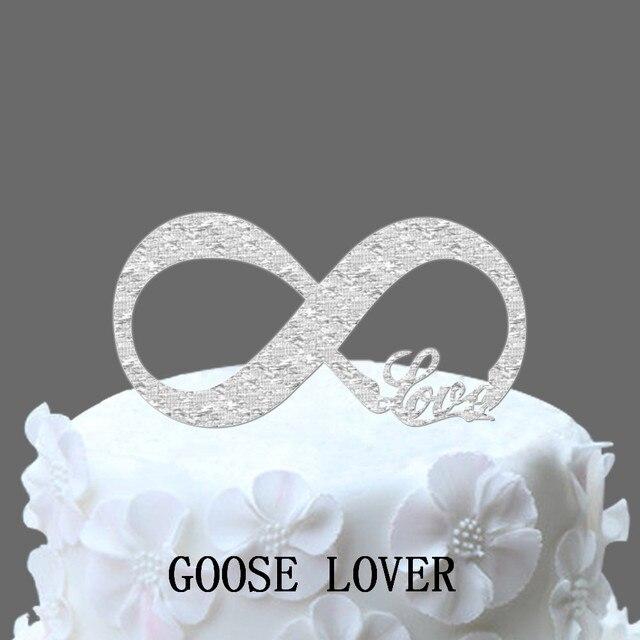 Liebe Und Unendlichkeit Symbol Hochzeit Kuchen Topper Elegante