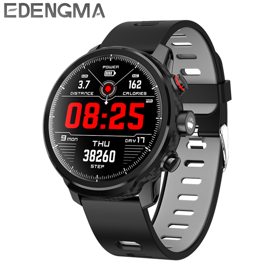 L5 men s smart watch with heart rate monitor pedometer measurement fitness tracker Bluetooth 4 0