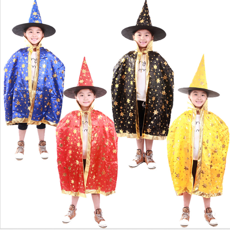 Witch Cloak Children Halloween Group Costume Idea Kids Role Play Funny Robe Pointed Hat Pumpkin Set Festival Gift For Boys Girls-in Costume Props from ...  sc 1 st  AliExpress.com & Witch Cloak Children Halloween Group Costume Idea Kids Role Play ...